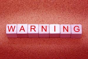 警告という英単語